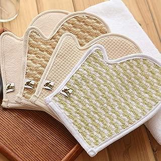 Unisex Bathing Gloves Exfoliating Mud Massage Gloves Protection (Color : Waffle)