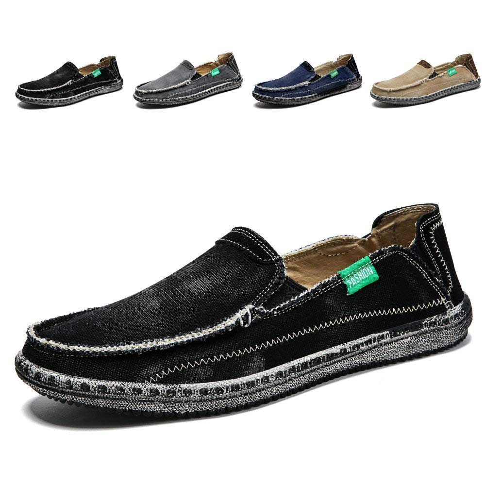 Men's Slip on Deck Shoes Loafers Canvas