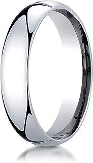 Men's Platinum 5mm Slim Profile Comfort Fit Wedding Band Ring