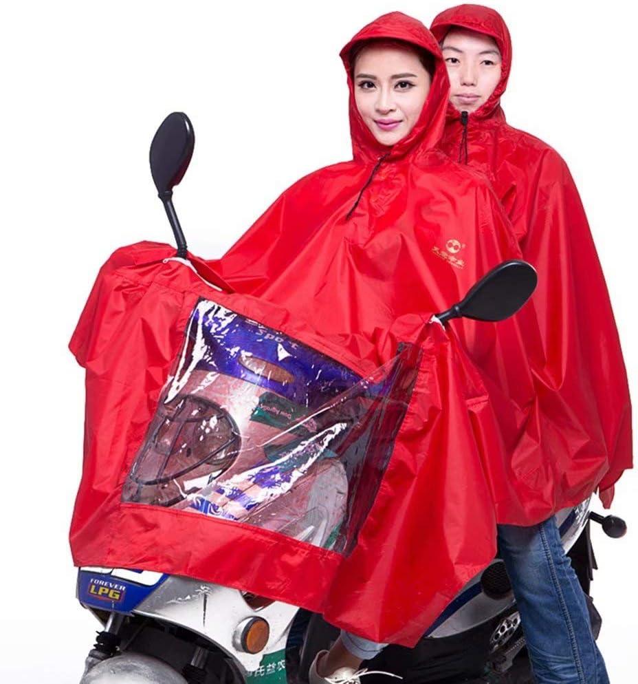 AA-SS Moto Impermeable Capa de Lluvia Grande Capa Scooter de Movilidad Impermeable de Motocicleta Poncho de Lluvia Rain Mac Rainwear para Motociclismo