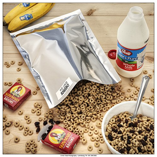 """60-1 Gallon ShieldPro Mylar Bags (10""""x14"""") & 60-300cc Oxygen Absorbers (in Packs of 20) for Dried Dehydrated and Long Term Food Storage - Food Survival"""