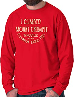 Vintage Mount Crumpit Ugly Xmas Sweater Long Sleeve T Shirt