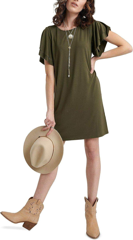 Lucky Brand Women's Ruffle Sleeve Dress