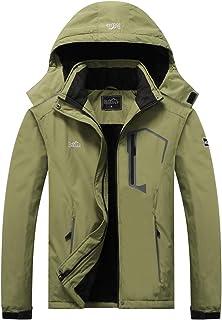 Men's Ski Jacket Warm Winter Waterproof Windbreaker Hooded Raincoat Snowboarding Jackets