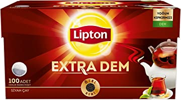 Lipton Extra Dem Demlik Süzen Poşet Siyah Çay 100'lü