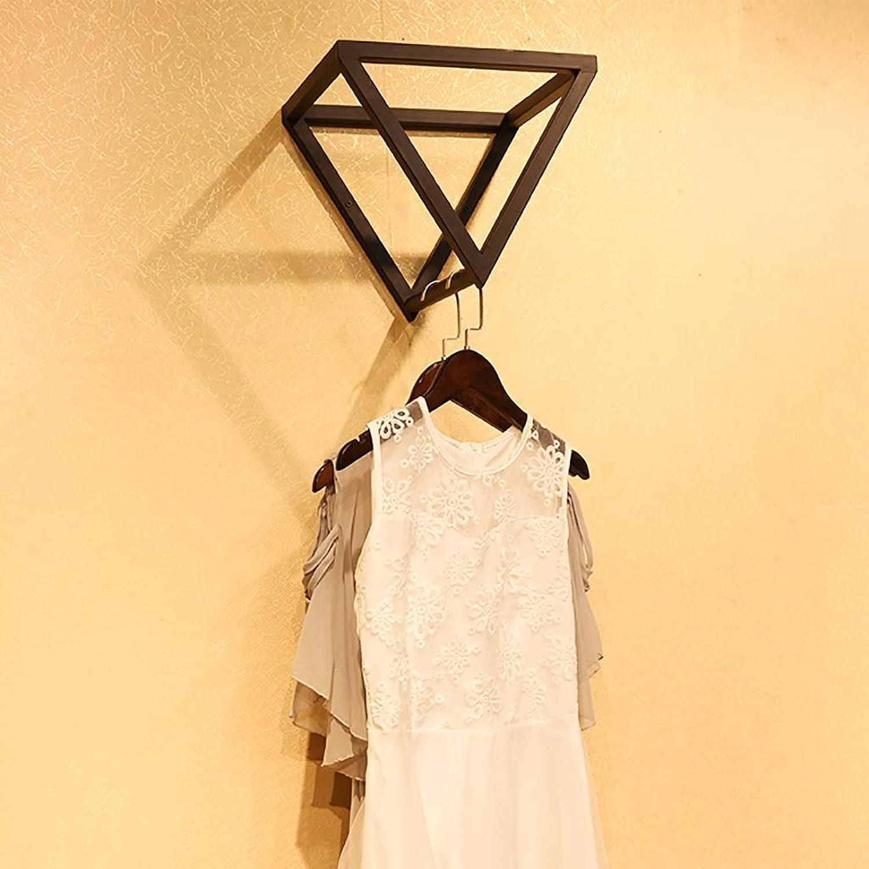 Coat Rack, Wrought Iron Women's Clothing Store Display Rack Wall Hanging Decorative Rack Shelf, 32  32  32cmcm