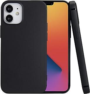 iphone 12 mini ケース 5.4インチ対応 耐衝撃 衝撃吸収 指紋防止 落下防止 滑り防止 ケース TPU 軽量 し レンズ保護 ストラップホール付き iPhone 12 mini 用カバー(ブラック)