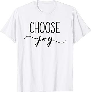 Choose Joy Tee, Christian Gift T-Shirt, Faith Based Apparel T-Shirt