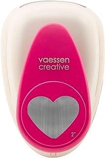Vaessen Creative Perforatrice de Papier, Taille XL, Coeur, Pour Projets DIY, Scrapbooking, Création de Cartes et Plus