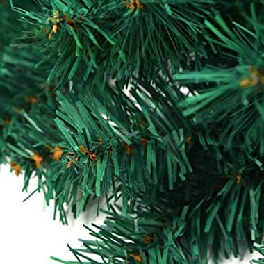 Crownland Christmas Soft Pine Garland 9 Feet Holiday Green Artificial Pine for Staircase Railing Banister Door Fireplace Mant