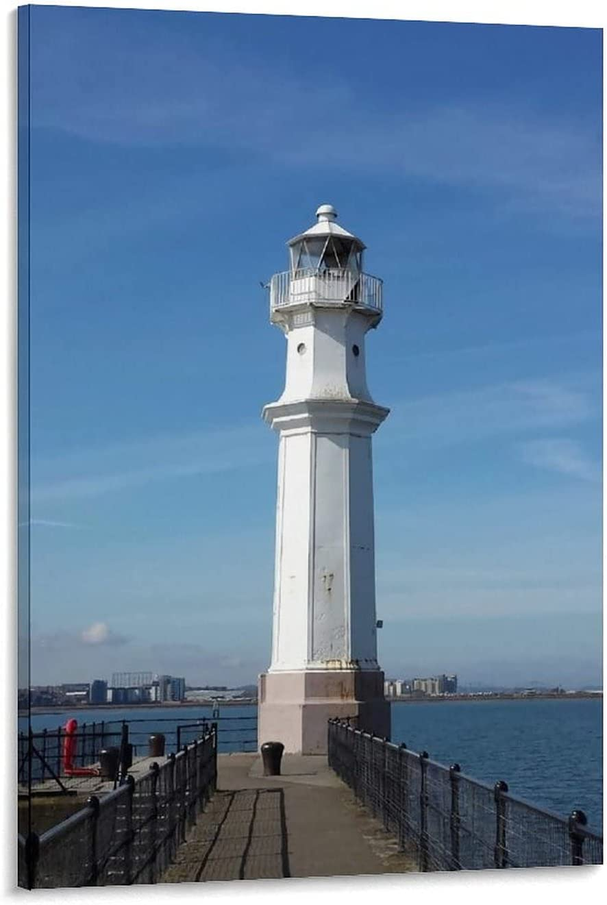 Picnelt The Charm New product! New type of New Haven Poster LighthouseCanvas and W Fresno Mall Art