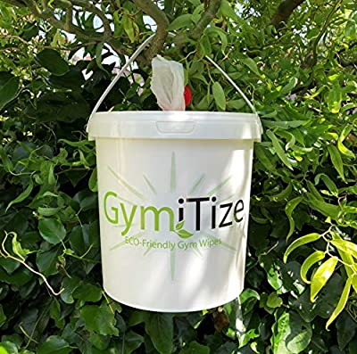 GymiTize Universal Sanitising Multi Surface Wipes Eco Friendly 500 Wipes - 100% Biodegradable - 100% Plant Fibre - 0% Plastic - Alcohol Free from GymiTize