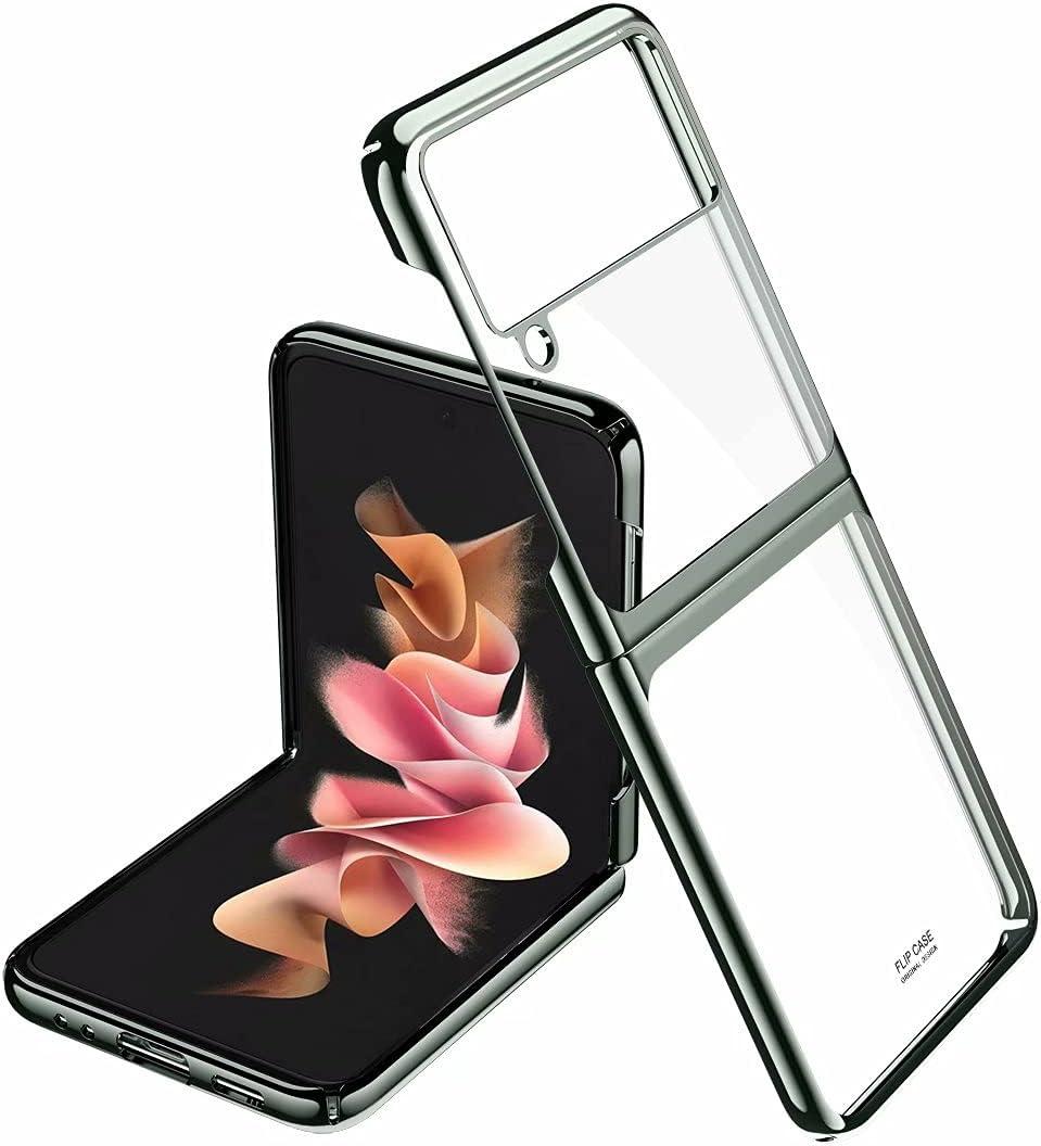 جراب هاتف RanTuo لهاتف Samsung Galaxy Z Flip3 5G، نحيف للغاية، صلب ، مقاوم للخدش، خفيف الوزن، مقاوم للصدمات، غطاء لهاتف Samsung Galaxy Z Flip3 5G. (اخضر)