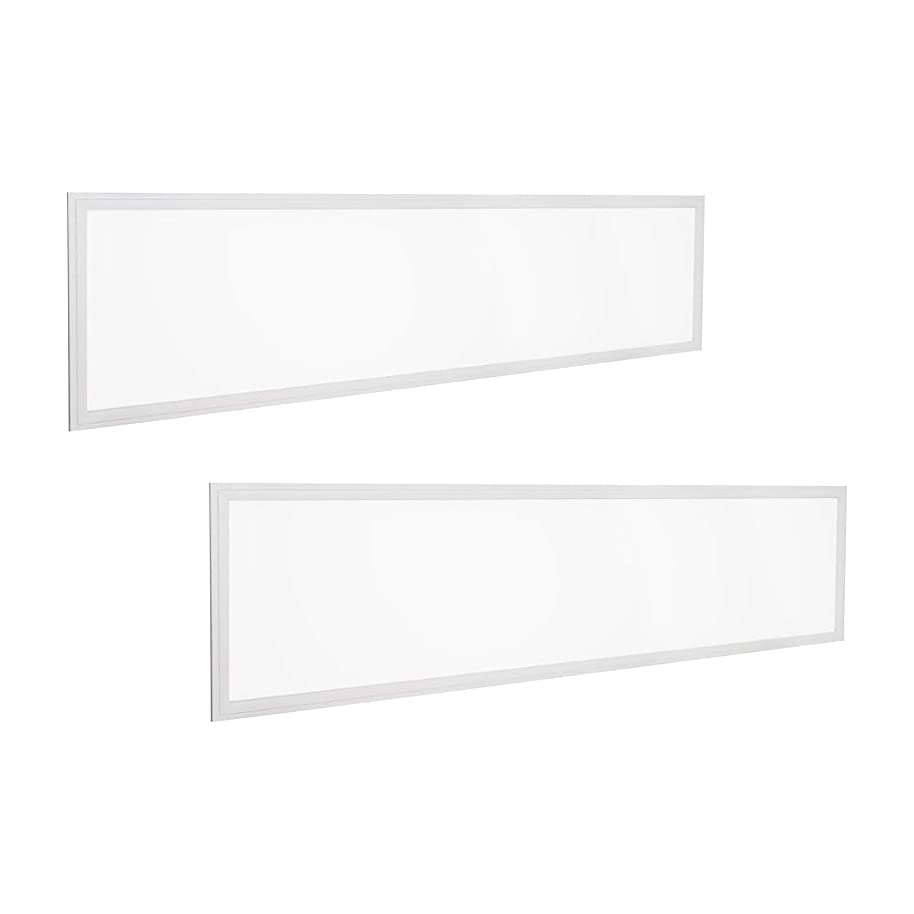 2-Pack - 1ft x 4ft LED Dimmable Flat Panel - 40W, 4000 Lumens - 5000K Cool White - DLC 4.0 Standard