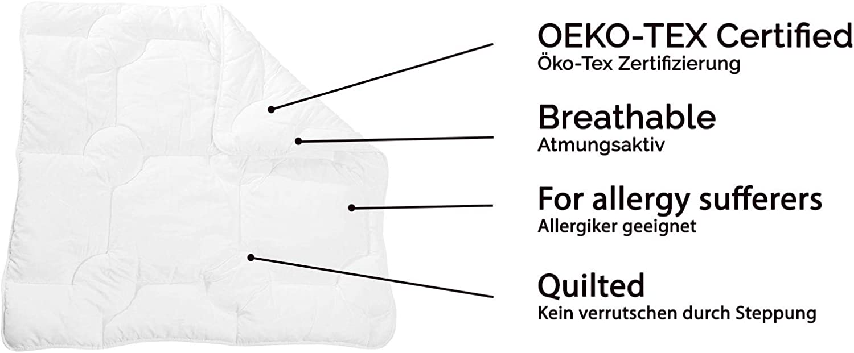 80x80 cm White Washable ZOLLNER Children Duvet /ÖkoTex Microfibre