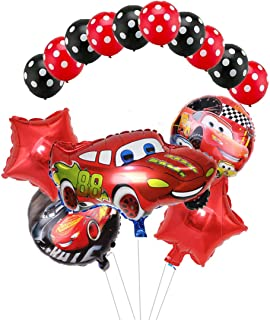 Party Supplies Cars Lightning McQueen Birthday Balloons Bouquet Cars Foil Balloons for Child Birthday Party Baby Shower Decorations(15pcs)