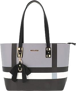 Gallantry - Grand Sac à Main Femme Elegant - Sac Rayures PU Cuir Style Semi-Rigide - Cabas Fourre-Tout Poches Multiples - ...