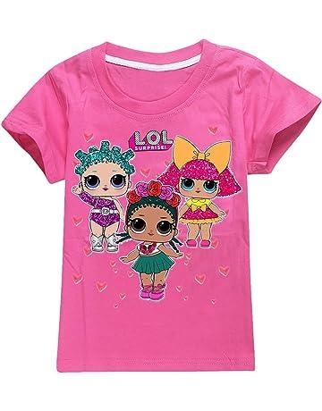6d18e30c61b EMILYLE ガールズ Tシャツ 半袖 かわいい LOL サプサイズ Surprise Doll キッズ 子供 人気