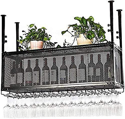 Estantería de Vino Amantes del Vino/Muro Estante de Vino Vintage Rack Rack Estante Estante Metal Montado en la Pared Botella de Vino Rack Techo Vino Estante Colgante Estante de Vino Titular de vidri