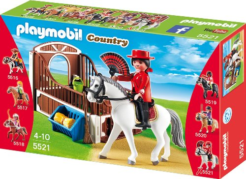 Playmobil 5521 - Andalusier mit brauner Pferdebox