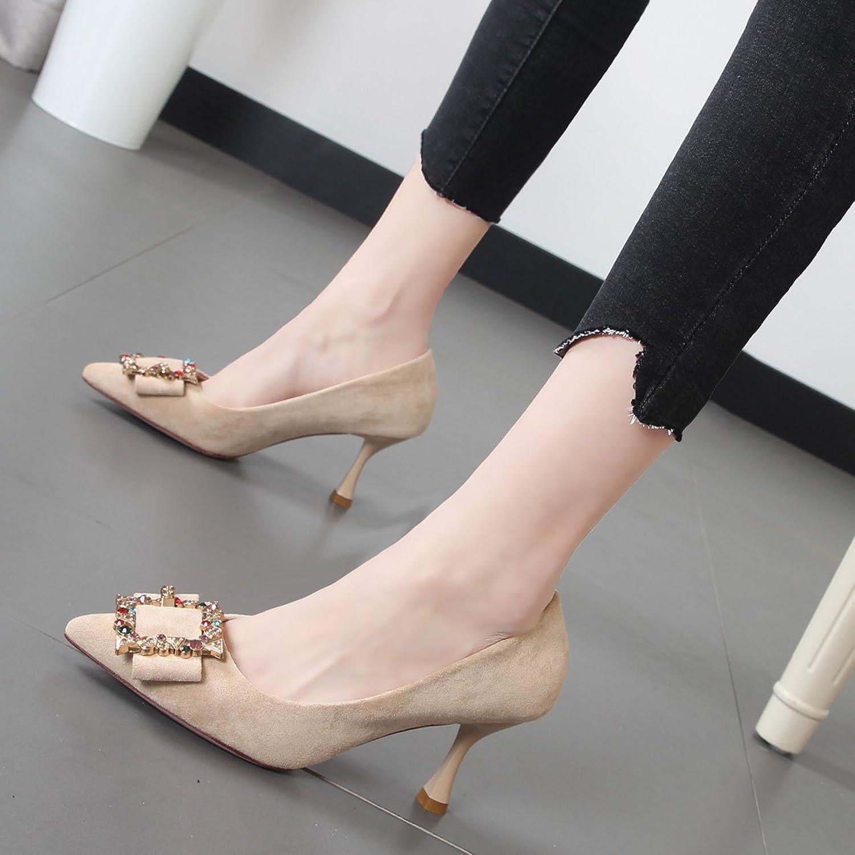 Xue Qiqi Tipp Partei für dünne und leichte mit hochhackigen Schuhe im Wilden einzelne Schuhe Frauen Schuhe