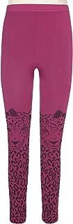 Girls Sweet Leopard Over The Knee Jacquard Seamless Legging
