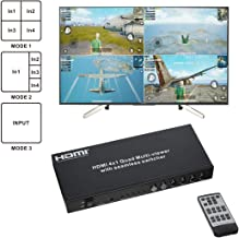 Eazy2Hd Hdmi 4X1 Quad Multi-Viewer with Seamless Switcher with Ir Wireless Remote