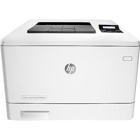 HP Color LaserJet Pro M452dn - Impresora láser a color (A4, hasta 27 ppm, 750 a 4000 páginas al mes, USB 2.0 alta velocidad, Red Gigabit Ethernet 10/100/1000 Base-TX incorporado, USB de fácil acceso)