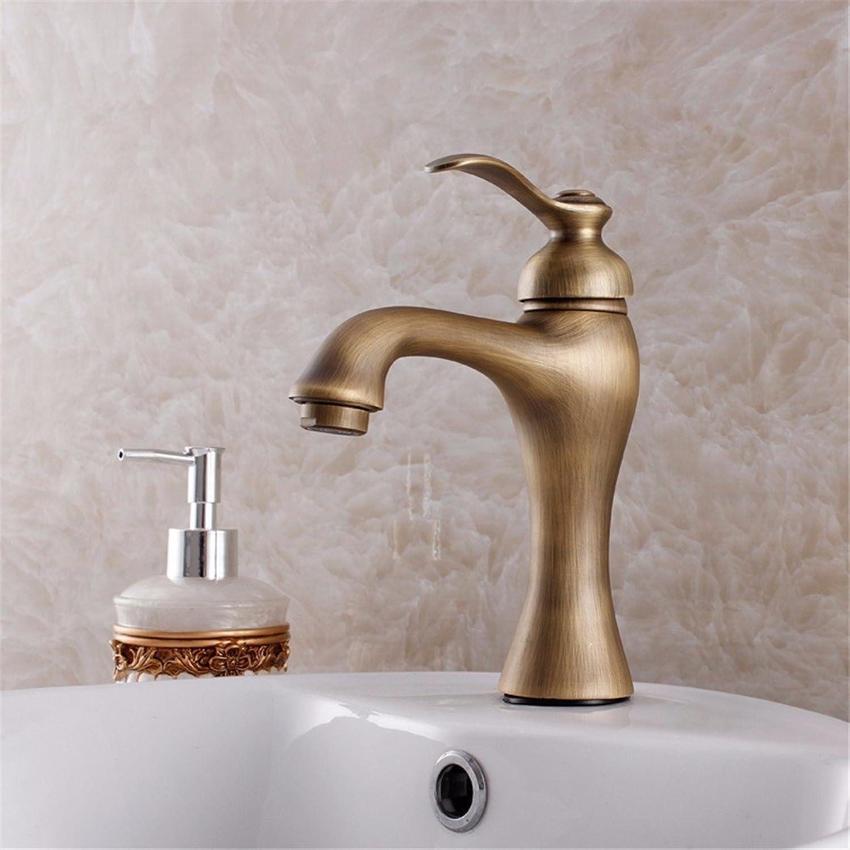 ETERNAL QUALITY Bad Waschbecken Wasserhahn Küche Waschbecken Wasserhahn Retro Heies Und Kaltes Kupfer Einhand-Einloch-Wasserhahn Waschtischmischer BQ106ca