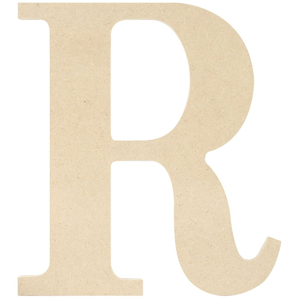 MPI MDF Classic Font Wood Letters and Numbers, 9.5-Inch, Letter R