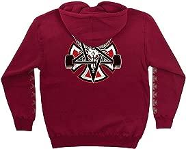 Independent Trucks x Thrasher Magazine Pentagram Cross Men's Pullover Hoodie - Garnet - Medium
