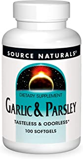 Source Naturals Garlic & Parsley Dietary Supplement - No Taste Or Odor - 100 Softgels