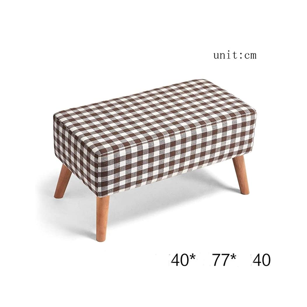 KXBYMX Stool Solid Wood Stool Bench Stool Storage Stool Stool Sofa Stool Coffee Table Stool Cloth Dressup Stool Storage Stool - Home Stool (Color : B)