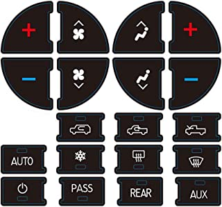 AC Dash Button Sticker Repair Kit for GM Vehicles, AC Panel Decals & Radio Button Repair Decal Set, Fix Ruined Faded AC Controls for Suburban, Chevy Tahoe, Silverado, Traverse - Year Models 2007-2015
