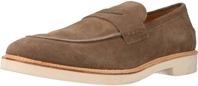 Geox shoes men Mocassini in camoscio brown U620SD-00022-C1018