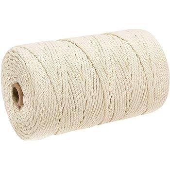 4 rollos de cuerda de algodón de macramé para cocina, de yute ...