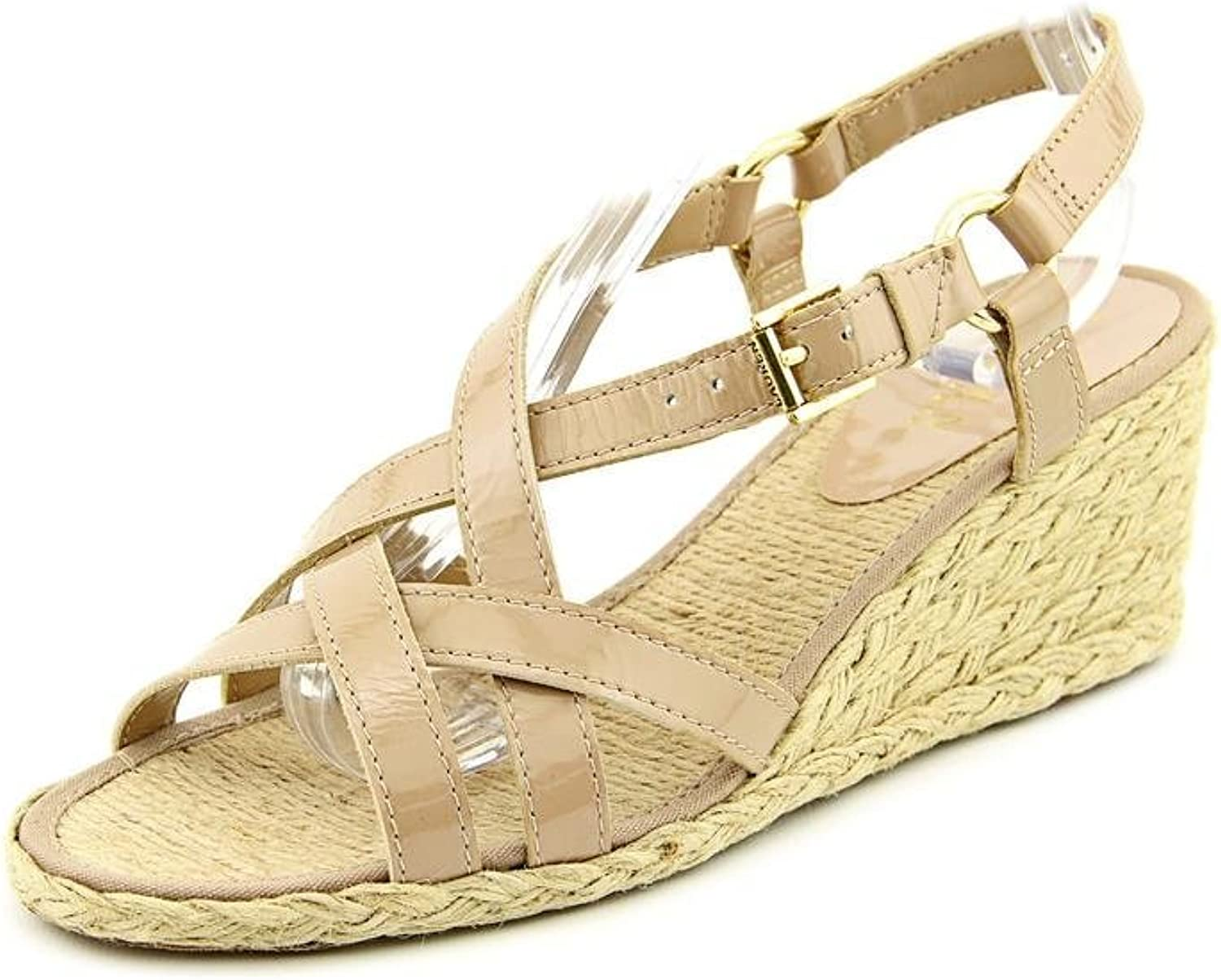 Lauren Ralph Lauren Chrissy Womens 8.5 Tan Wedge Sandals shoes New Display