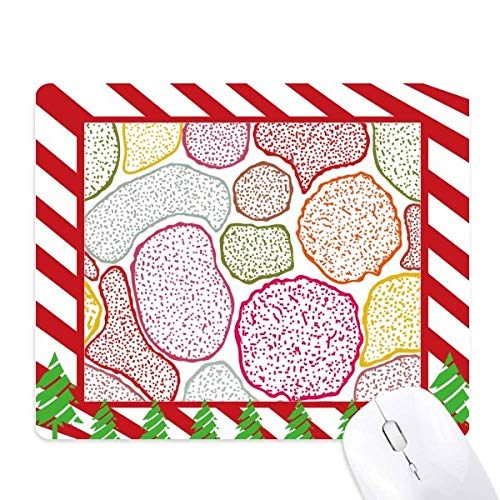 Colorful Microscope Cells Structure Biological Mouse Pad Candy Cane Rubber Pad Christmas Mat