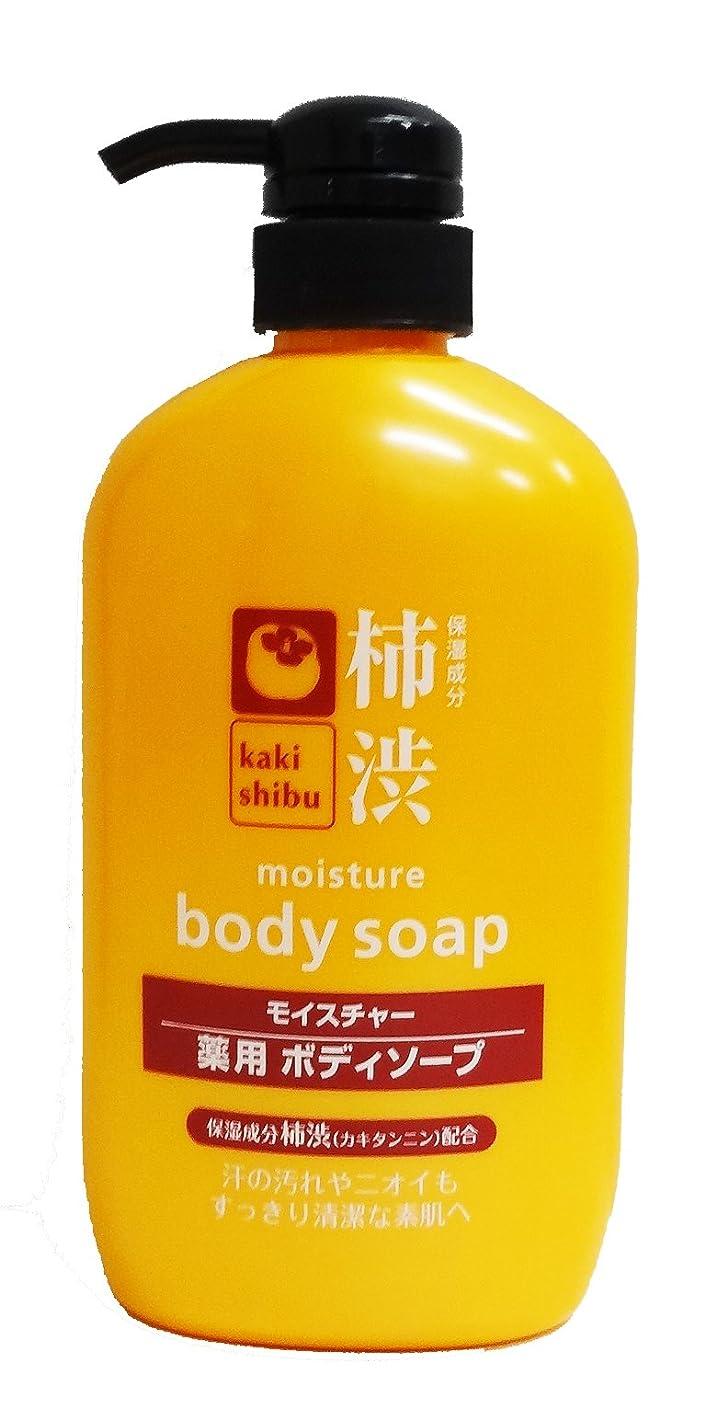 演劇ペインティングと闘う熊野油脂 薬用 柿渋ボディソープ 600ml
