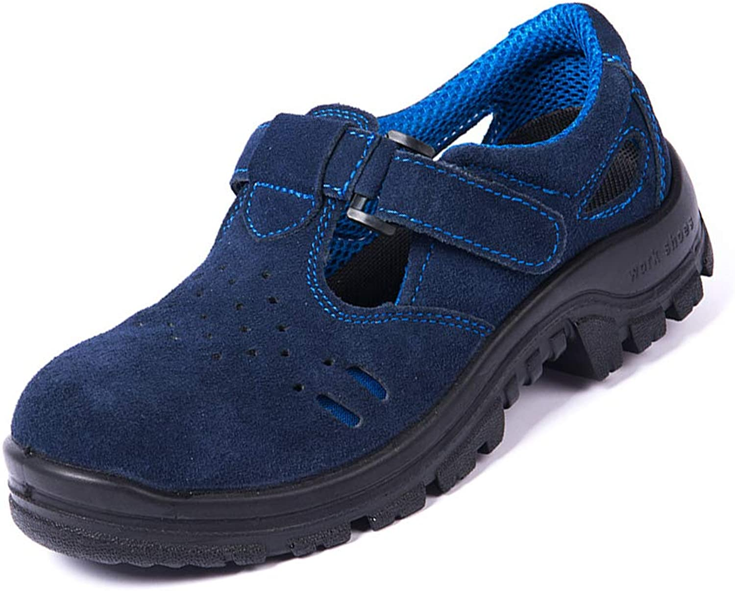 Steel Toe shoes Men Women, Work Safety shoes, Comfortable Anti-Smashing Puncture Proof Industrial Construction shoes,6