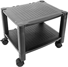 PrimeMatik - Rolling printer cart Machine stand with cable management Side table for printer
