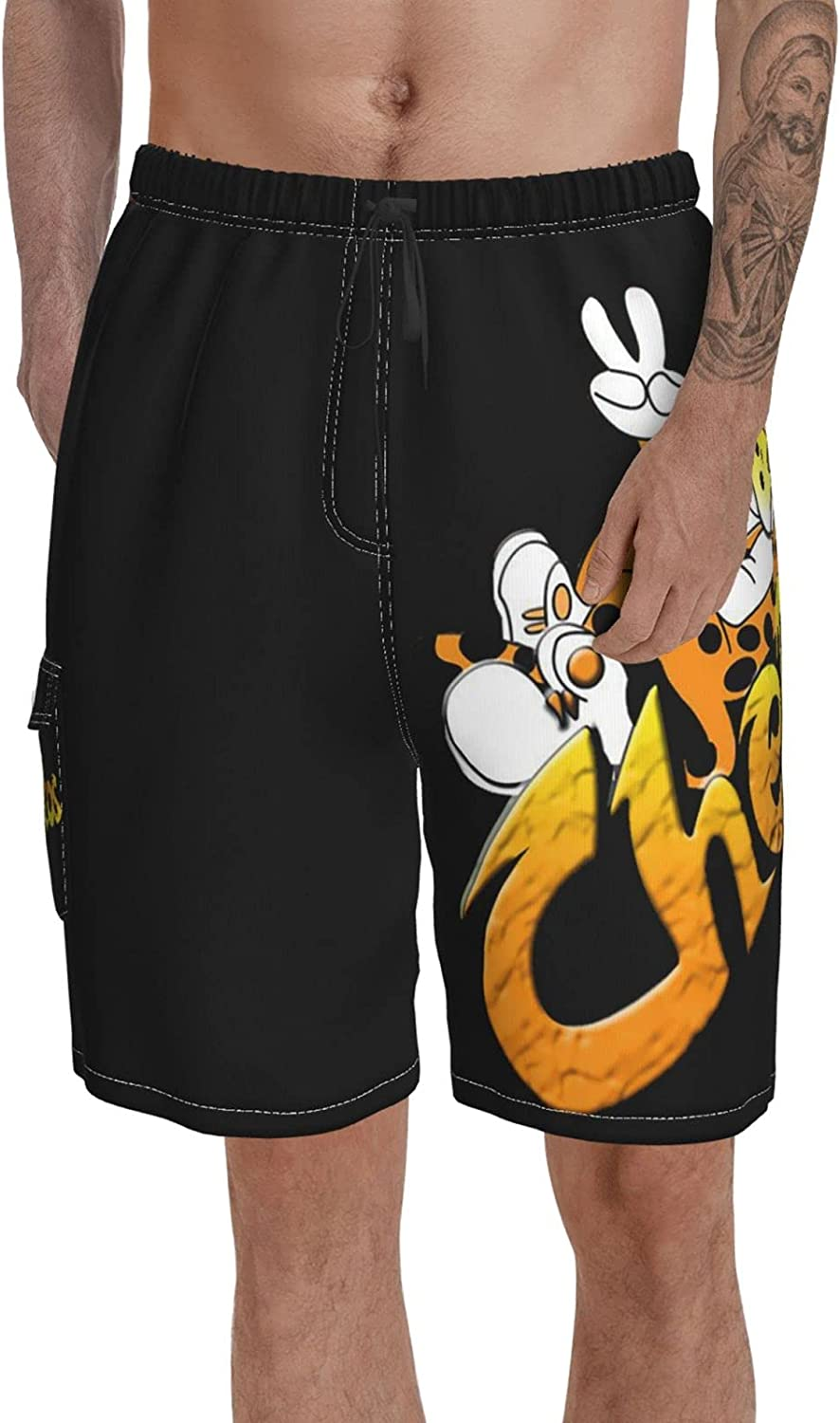 Cheetos Mens Swimming Trunks Swim Trunks with Mesh Lining Summer Beach Shorts Board Shorts Surf Shorts Quick Dry Pants