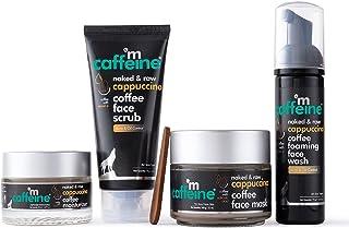 mCaffeine Acne Control & Exfoliation Kit - Cappuccino Coffee Routine   Face Wash, Face Scrub, Face Mask, Moisturizer   All...