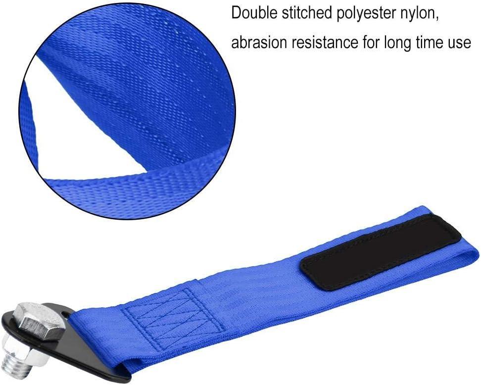 Blu fune di traino ad alta resistenza per gancio di traino del paraurti posteriore anteriore nero Cinghia di traino universale da corsa