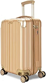 YCYHMYF Hard Case Trolley Case Unisex Travel ABS Material Lightweight Suitcase (Gold 26 Inch)