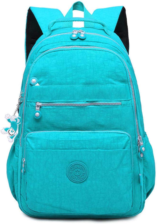 HPCAGLL Casual Rucksack leichte Reise lssig Rucksack im Freien mnnlichen und weiblichen Studenten See blau