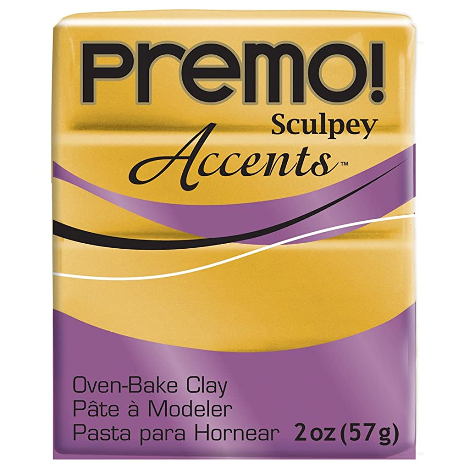 Polyform Premo Accents Sculpey Polymer Clay, 2-Ounce, Gold