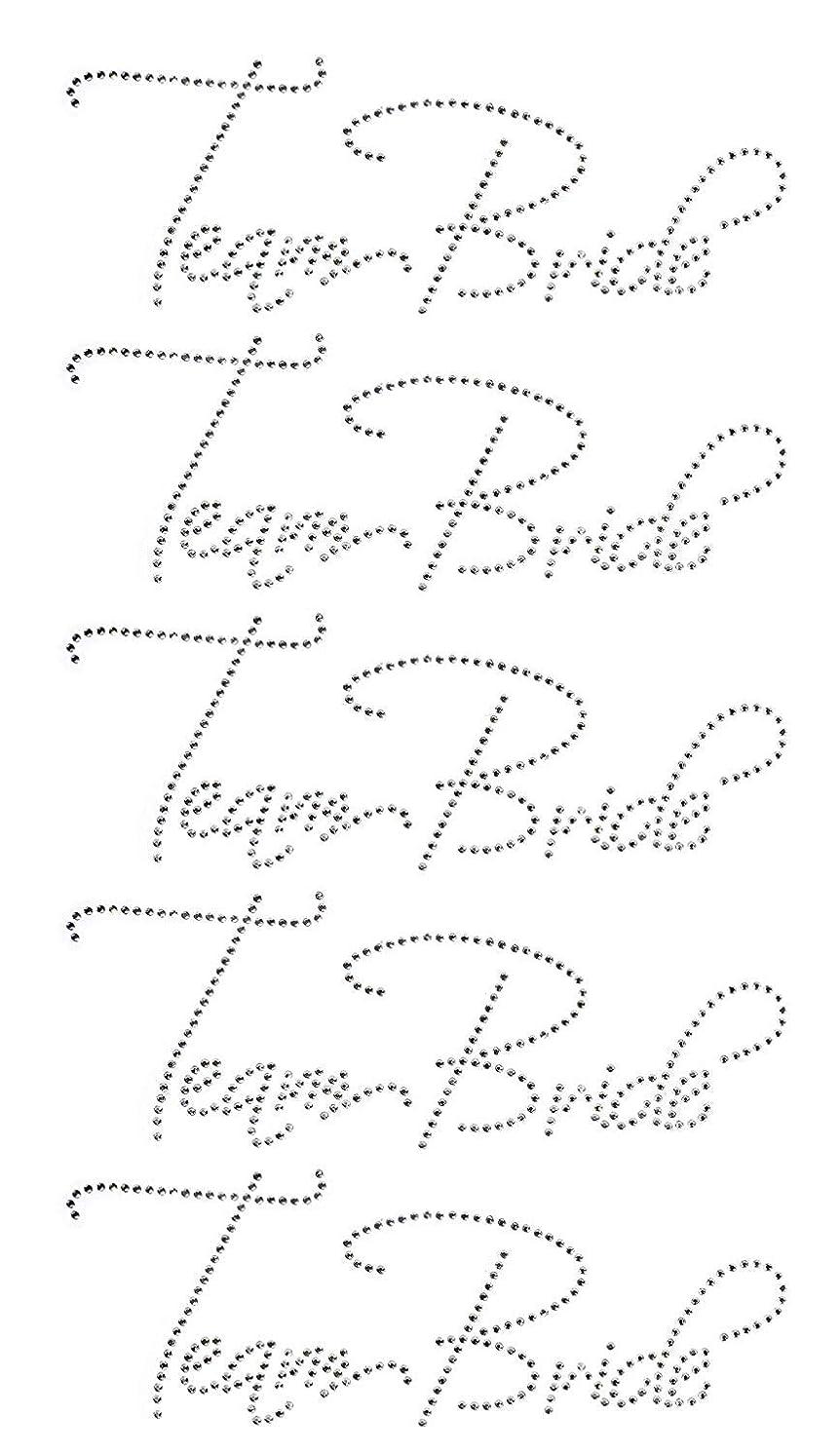 TEAM BRIDE Bridesmaid Clear Rhinestone Iron-on Hotfix Transfer Bling DIY- Each 9x3.5