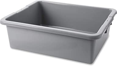 Rubbermaid Commercial Products FG335100GRAY Standard Bus/Utility Box, 7.125 Gal, Gray