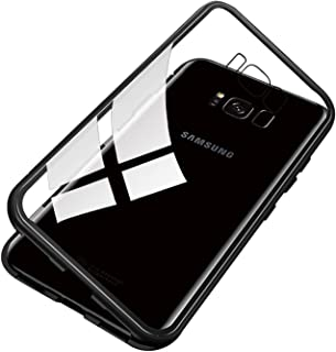 Ldea Galaxy S8 Case, Ultra Slim Shockproof Magnet Flip Tempered Glass Magnetic Cover